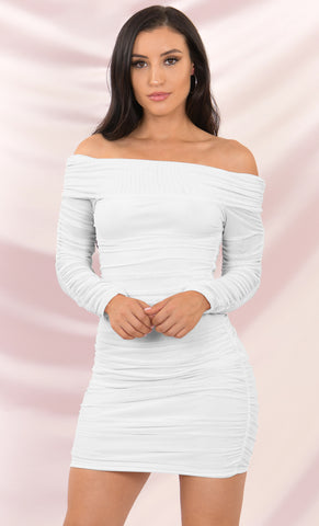 Came Through Drippin Two Piece Satin Rhinestone Crystal Fringe Sleeveless Spaghetti Strap Crop Top Mini Dress - 2 Colors Available