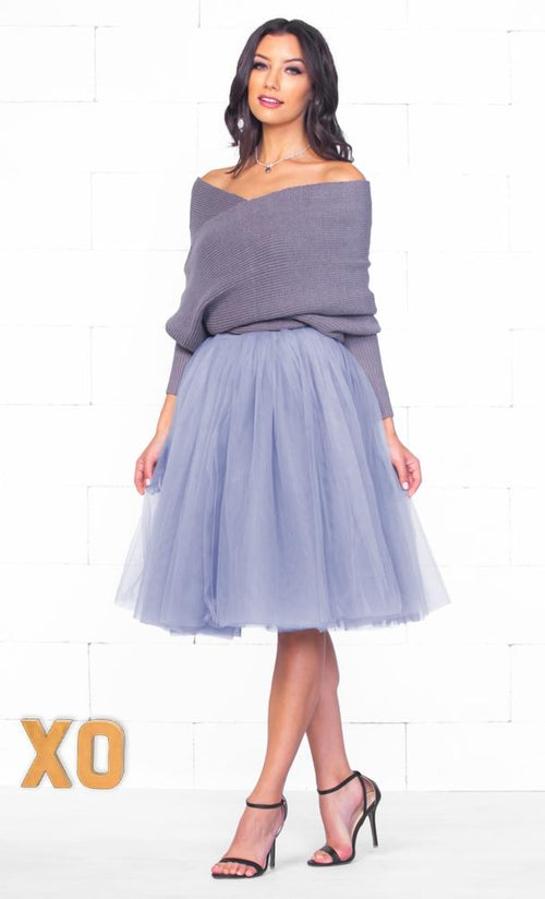 Indie XO 7 Layer On Pointe Lavender Purple Tulle Pleated Ballerina A Line Full Midi Skirt - Just Ours!