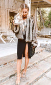 Snow Job Brown Camel Shaggy Faux Fur Long Sleeve Ombre Coat Outerwear - Sold Out