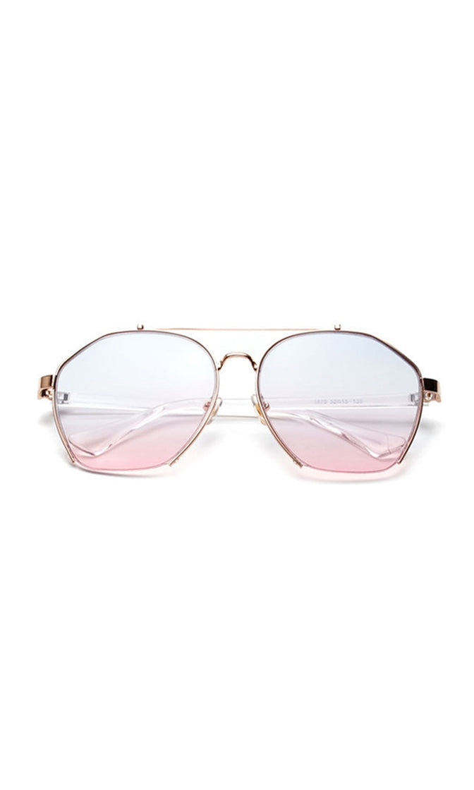 See The Signs Metal Aviator Semi Rimless Sunglasses - 5 Colors Available - Sold Out