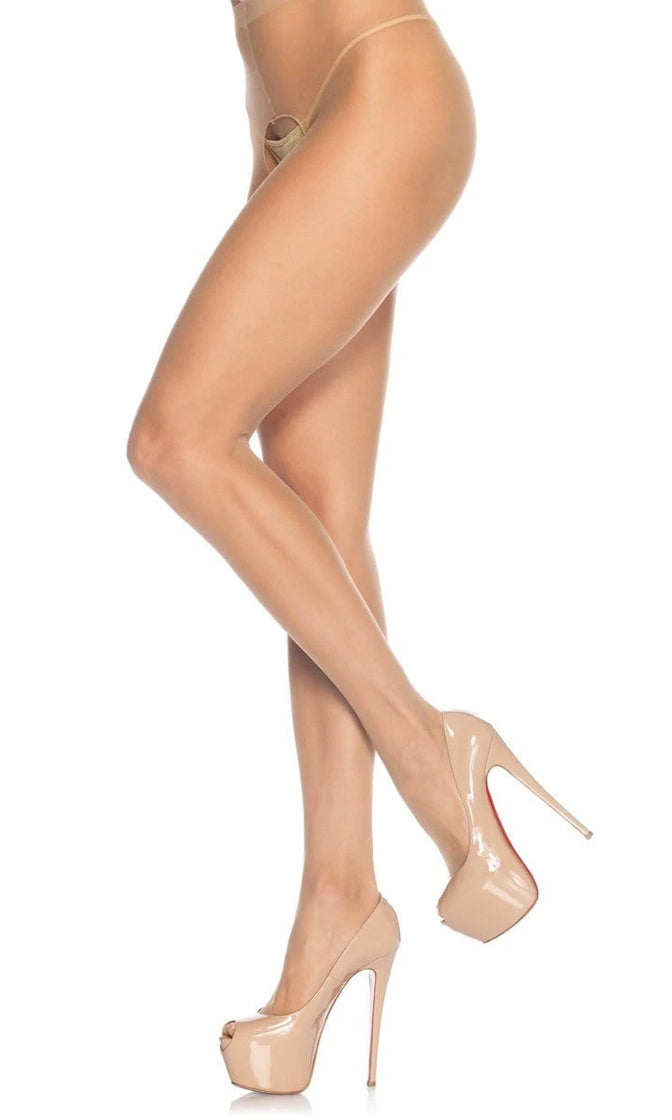 Passionate Romance Sheer Nylon Cut Out Crotchless Stockings Tights Hosiery - 2 Colors Available