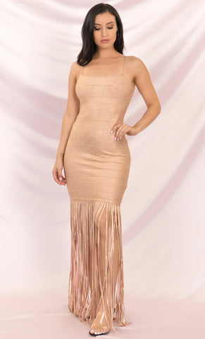 Bright Moment Long Sleeve Off The Shoulder Fold Over Bodycon Bandage Maxi Dress - 2 Colors Available