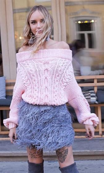 Cuddle With Me Long Dolman Sleeve Off The Shoulder Cable Pullover Sweater - 2 Colors Available