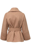 Anywhere And Everywhere Brown Wide 3/4 Sleeve Big Lapel Wrap Coat Outerwear - Sold Out