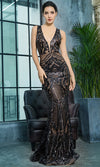 Mystic Romance Sleeveless Spaghetti Strap Gauze Sheer Mesh Plunge V Neck Cut Out Back Full A Line Maxi Dress - 2 Colors Available