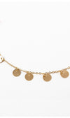 Simple Plan Metal Disc Dangle Choker Necklace - 2 Colors Available