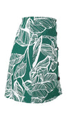 Tropic Island Green Floral Leaf Pattern High Waist Button A-line Casual Mini Skirt - Sold Out
