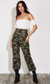 Breaking Free Leopard Print Animal Pattern High Waist Loose Bell Bottom Flare Leg Pants