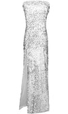 Addicted To Glitz Strapless Foldover Sequin High Slit Maxi Dress - 2 Colors Available - Sold Out