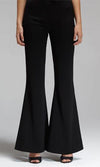 Wild Horses Black Elastic Waist Flare Leg Bell Bottom Pants - Sold Out