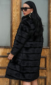 Softening Up Black Faux Fur Long Sleeve Coat Outerwear