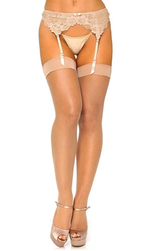 Wherever Life Takes Me Sheer Micro Fishnet Mesh Thigh High Stockings Tights Hosiery - 2 Colors Available