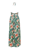 Never Let You Go Floral Pattern Sleeveless Spaghetti Strap Backless Halter V Neck Casual Maxi Dress - Sold Out