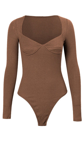 Holding You Tight Velvet Long Sleeve Turtleneck Thong Bodysuit Top - 3 Colors Available