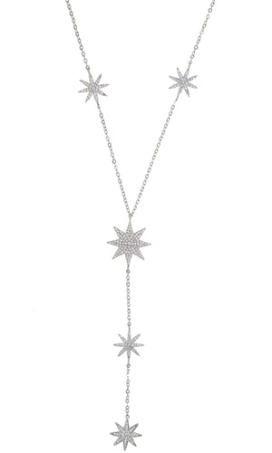 Wishing For Happiness Rhinestone Star Pendant Y Necklace - 3 Colors Available - Sold Out