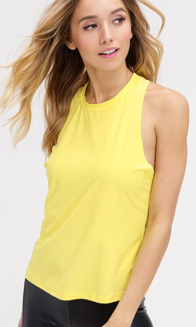 Easy To Love Sleeveless Scoop Neck Twist Back Basic Tank Top - 2 Colors Available (Pre-order)