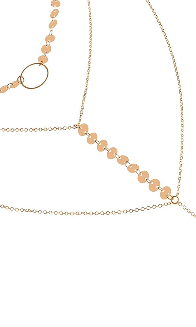 So Charming Double Circle Layered Chain Y Pendant Necklace Set - 2 Colors Available