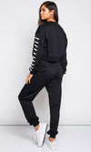 Urban Princess Long Sleeve Crew Neck Lace Up Sweatshirt Jogger Pant Two Piece Jumpsuit - Sold Out
