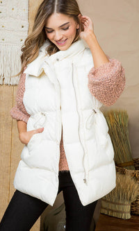 Down For Adventure Sleeveless Quilted Padded Vest Outerwear - 2 Colors Available - Sold Out