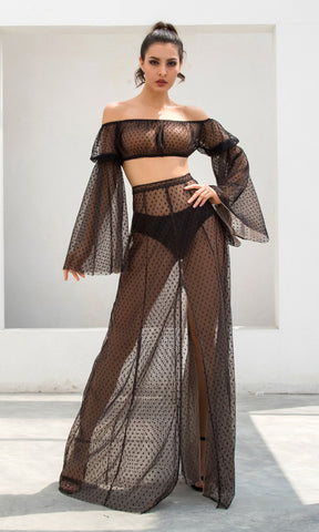 Barely There Crystal Gold Metallic Rhinestone Mesh Sleeveless Spaghetti Strap Cowl Neck Backless Crop Top Side Slit Mini Two Piece Dress