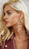 Starry Skies Gold Star Dangle Earrings - Sold Out