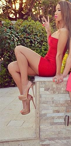 Bright Fire Red Sweetheart Neck Bandage Style Strapless Body Con Fitted Mini Dress