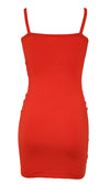 Living La Vida Loca Sleeveless Double Spaghetti Strap Ruched Bodycon Mini Dress - 5 Colors Available
