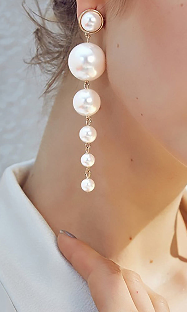 Longing For You Pearl Drop Earrings