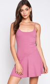 On The Ice Sleeveless Spaghetti Strap Scoop Neck Skater Circle A Line Flare Casual Mini Dress - 2 Colors Available