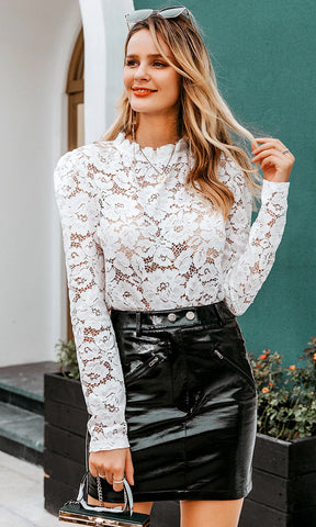 Summer Storm White Strapless Ribbed Ruffle Sweater Tube Crop Top