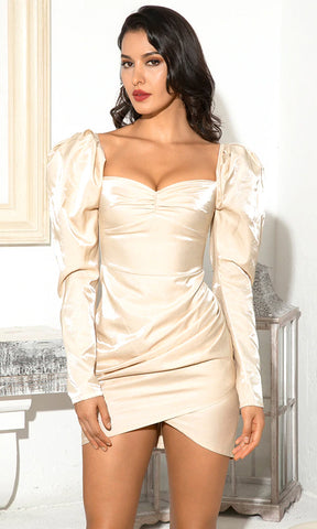 Shredding It Black Sheer Mesh Ruched Long Sleeve Off The Shoulder Sweetheart Neck Bodycon Mini Dress
