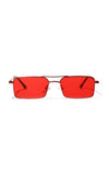 Eye Catcher Metal Rectangular Small Sunglasses - 5 Colors Available