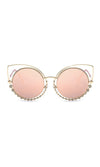 A Million Reasons Metal Cat Eye Cut Out Rhinestone Bead Sunglasses - 9 Colors Available - Sold Out