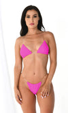 Seaside Heights Geometric Fruit Pattern Two Piece Brazilian Cheeky Bikini Swimsuit - 6 Colors Available