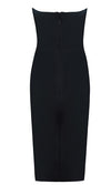 Anything I Want Black Strapless V Neck Bodycon Mini Dress - Sold Out