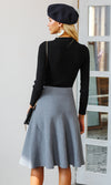 Working On It High Waist A Line Flare Midi Skirt - 3 Colors Available - Sold Out