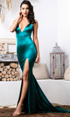 Staying Power One Shoulder Draped Cape Wide Leg Loose Jumpsuit - 2 Colors Available