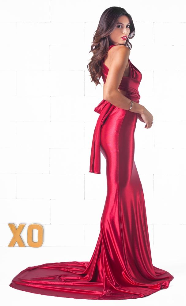 Indie XO Your Majesty Red Sleeveless Plunge V Neck X Back Maxi Dress Evening Gown - Just Ours!