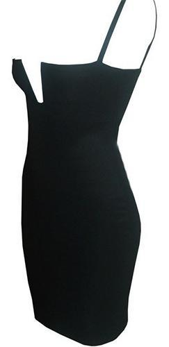 Black Bandage Deep Wired V Neck Sleeveless Body Con Fitted Mini Dress - Sold out