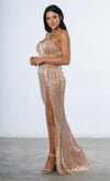 Show Me Some Love Champagne Sequin Strapless Sweetheart Neck High Slit Fishtail Maxi Dress - 5 Colors Available