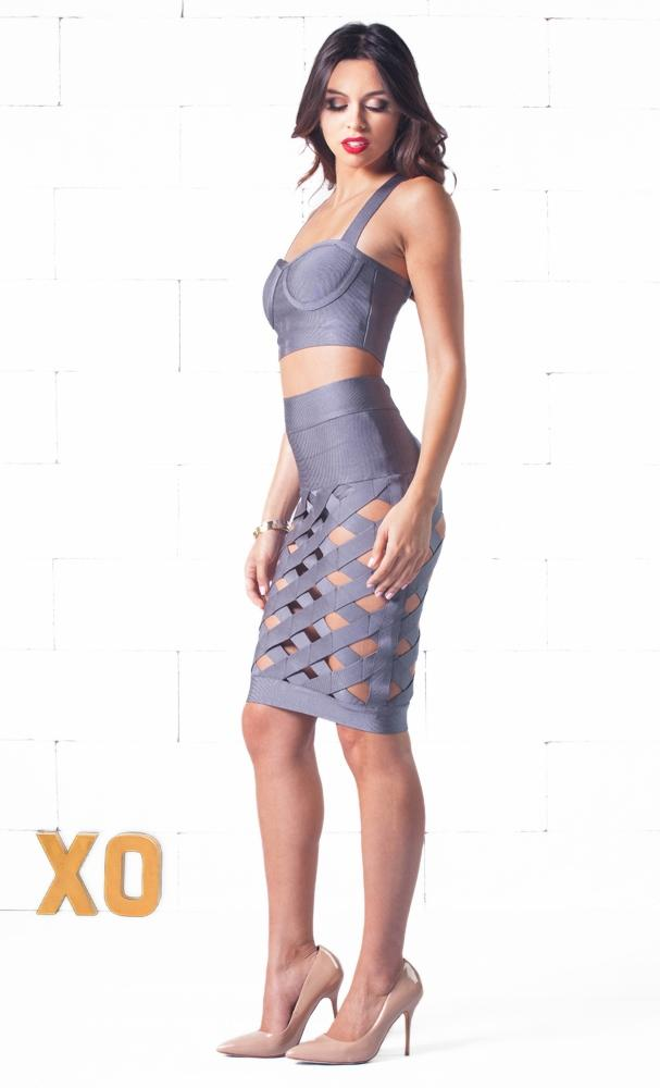 Indie XO Wild Child Grey Two Piece Dress - Just Ours!