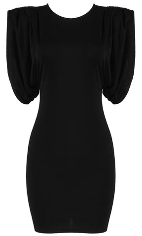 Almost Famous Black Sequin Long Sleeve Plunge V Neck Bodycon Mini Dress