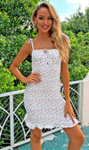 High Life Pink Snake Print Animal Pattern Sleeveless Plunge V Neck Backless Halter Draped Mini Dress
