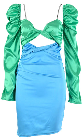 Lover Of Mine Satin Ruched Pleated Bustier Cups Sleeveless Bodycon Mini Dress - 2 Colors Available