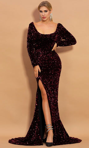 Drama Ensues Black Velvet Long Sleeve Ruched Mock Neck Extra Long Drape Sash Bodycon Mini Dress