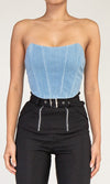 Pay Attention To Me Sleeveless One Shoulder Wide Strap Crop Tank Top