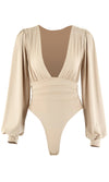 Parisian Soul Light Purple Ribbed Long Sleeve Stretchy Bustier Sweetheart Neckline Cut Out Hem Pullover Sweater Knit Top