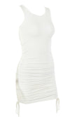 You Don't Know Me Sleeveless Round Neck Side Ruched Bodycon Mini Dress - 9 Colors Available