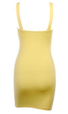 Lighten Up The Mood Sleeveless O Ring Strap Scoop Neck Bodycon Casual Mini Dress - 2 Colors Available