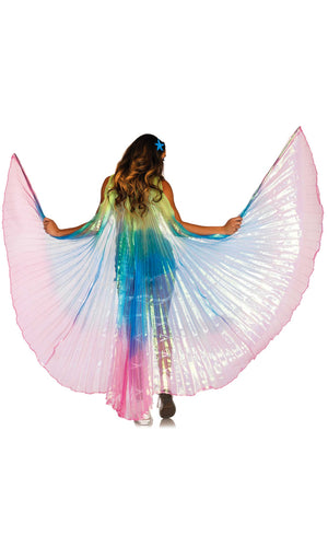 Boho Dreams Multicolor Rainbow Angel Wings - Sold Out